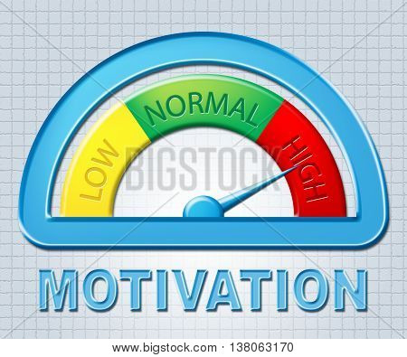 High Motivation Indicates Take Action And Display