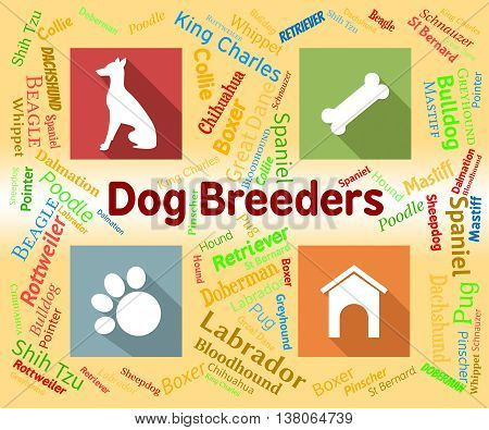 Dog Breeders Represents Mating Reproducing And Pup