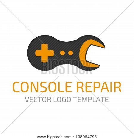Template logo repair gaming systems. Vector icon repair game consoles, the consoles.