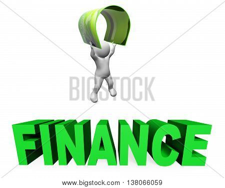 Credit Card Finance Means Accounting Illustration And Money 3D Rendering
