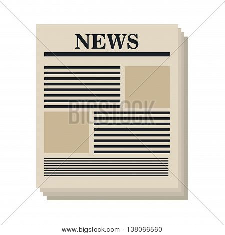 Newspaper isolated flat icon, vector illustration graphic design.