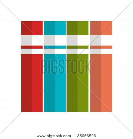 Education and book isolated flat icon, vector illustration graphic design.