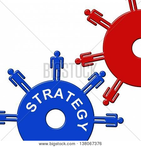 Strategy Cogs Represents Gears Vision And Plan