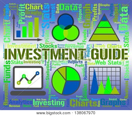 Investment Guide Indicates Business Graph And Advise