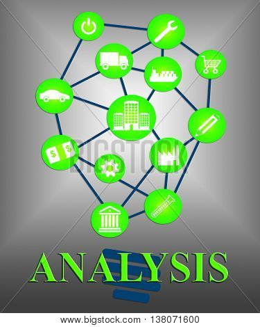Analysis Icons Represents Data Analytics And Analyse