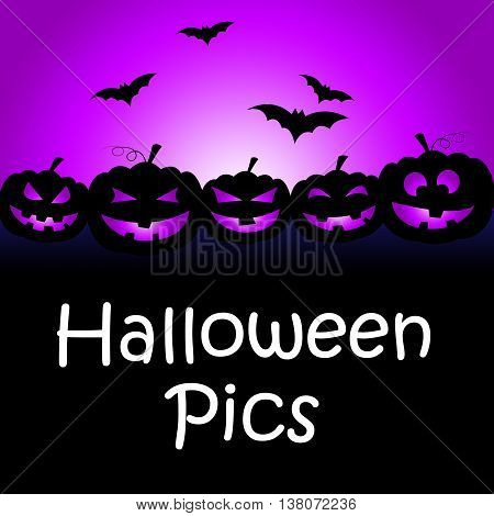 Halloween Pics Indicates Trick Or Treat And Autumn