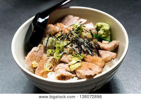 Tuna with rice in bowl, Tuna don, Japanese cuisine