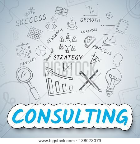 Consulting Ideas Shows Seek Advice And Ask