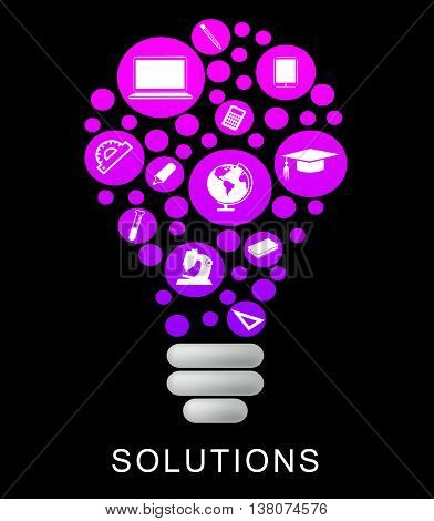 Solutions Lightbulb Indicates Power Source And Glow