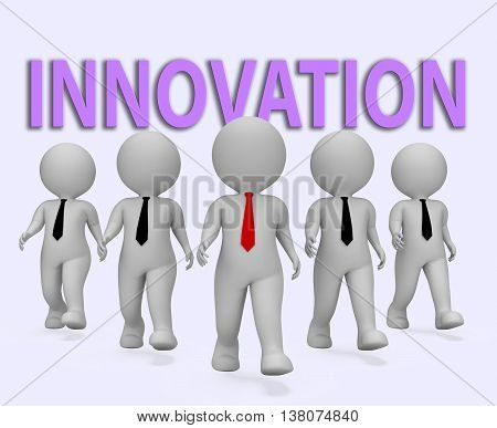 Innovation Businessmen Means Transformation Entrepreneurs And Restructuring 3D Rendering