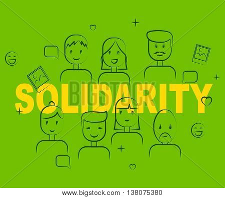 Solidarity People Means Mutual Support And Agree
