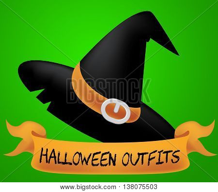 Halloween Outfits Represents Trick Or Treat And Autumn