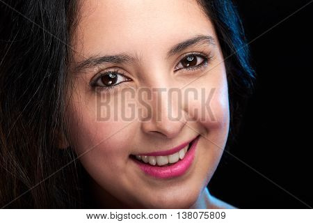 Close Up Of Girl Face