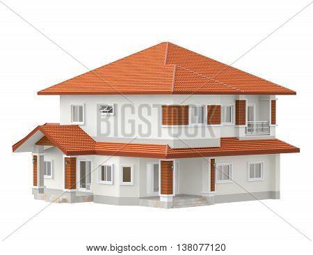 illustration design plan house isolated white background