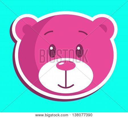 Teddy Bear Icon Indicates Stuffed Animal And Bears