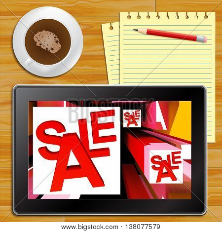 Sale On Cubes Showing Special Discounts Tablet