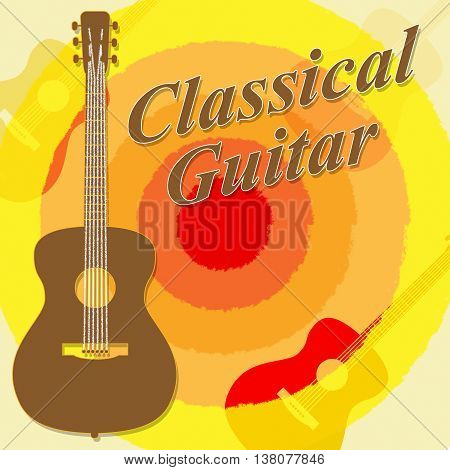 Classical Guitar Means Guitars Folk And Guitarist