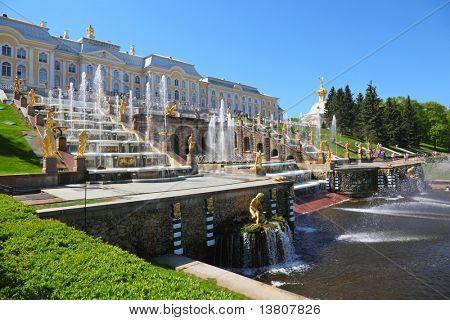 Fontes de Peterhof. São Petersburgo, Rússia