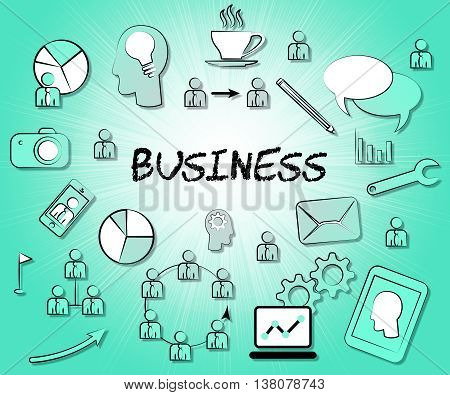 Business Icons Represents Trade Symbols And Sign