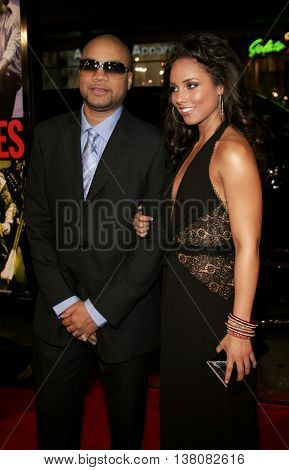 Alicia Keys and Kerry Brothers at the Los Angeles premiere of 'Smokin' Aces' held at the Grauman's Chinese Theatre in Hollywood, USA on January 18, 2007.