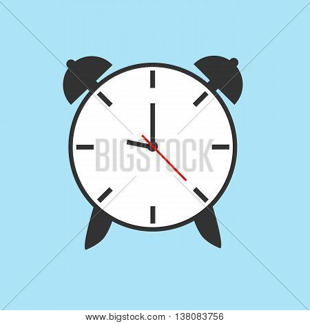 clock, alarm, vector, flat, icon, graphic, design, timer