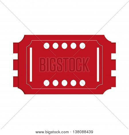 flat design movie ticket icon vector illustration