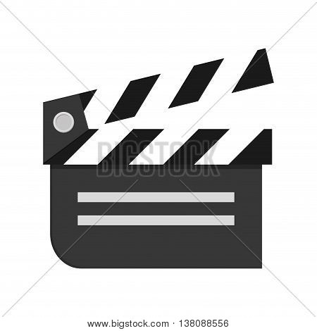 flat design movie clapperboard icon vector illustration