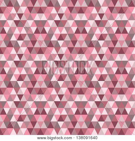 Modern abstract Marsala and pink geometrical triangle pattern