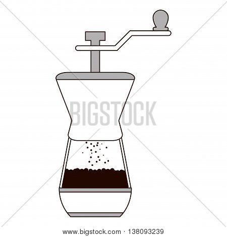 flat design french coffee press icon vector illustration
