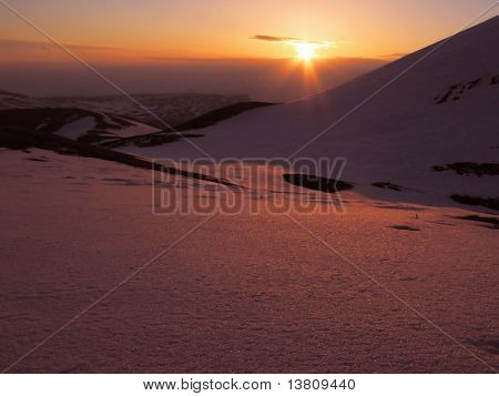 Sunrise in the mountain