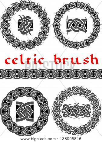 celtic brush for frame and design seamless vector