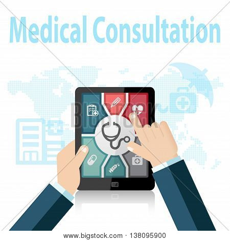Medical Consultation Online Doctor Apps on mobile device