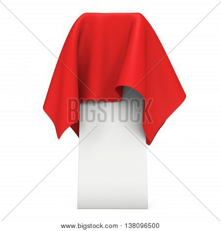 Presentation Pedestal Cover By Red Cloth