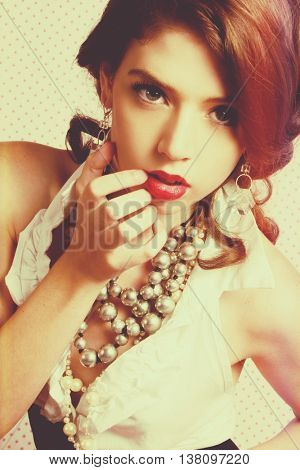 Beautiful vintage fashion model woman
