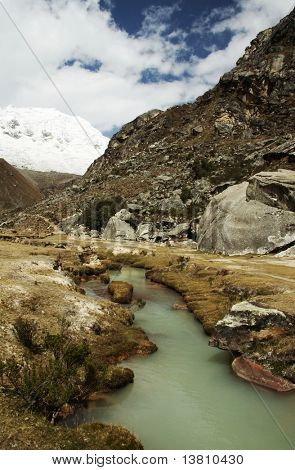 Peaceful river in the Cordilleras mountain