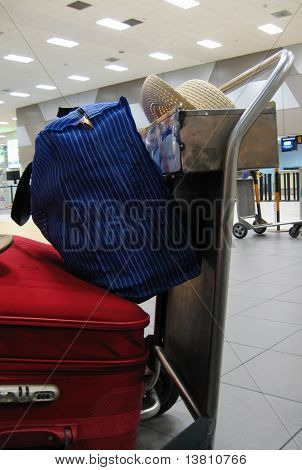 Baggage in the airport