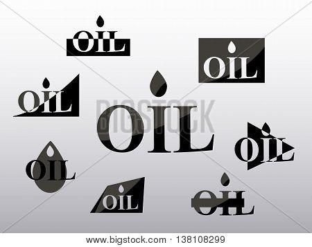 logo oil industry set on white background , vector illustration