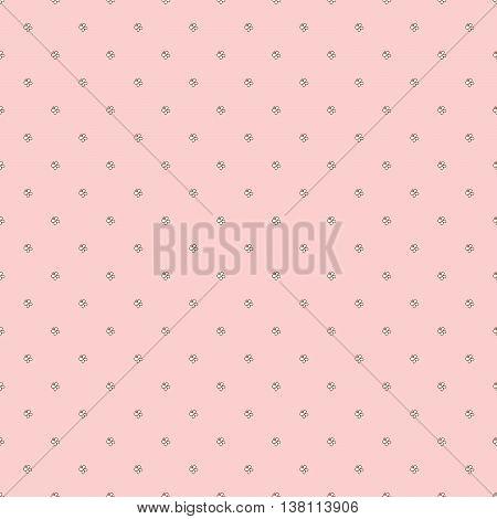 Seamless pattern - little butterflies on pale pink background