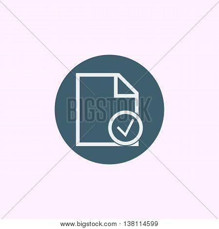 File Accept Icon In Vector Format. Premium Quality File Accept Symbol. Web Graphic File Accept Sign