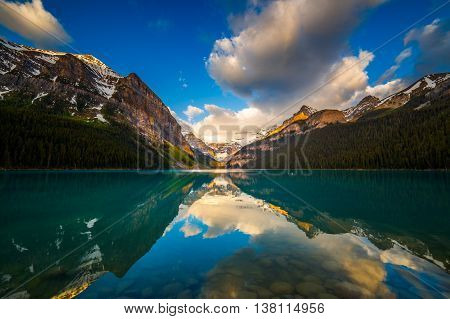 Sunrise at Lake Louise in Banff Alberta Canada