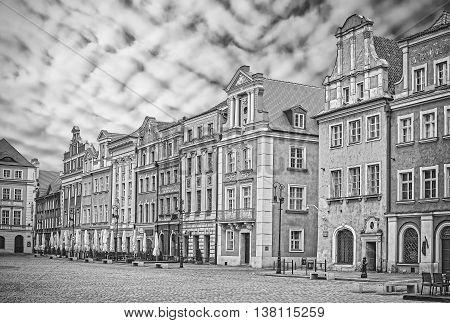 Old Market Square In Poznan, Poland.