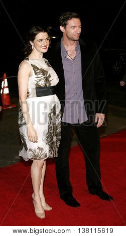Rachel Weisz and Hugh Jackman at the AFI Centerpiece Gala Screening of 'The Fountain' held at the Grauman's Chinese Theatre in Hollywood, USA on November 11, 2006.