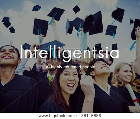 Intelligentsia Highly Educated Literate Knowledge Concept