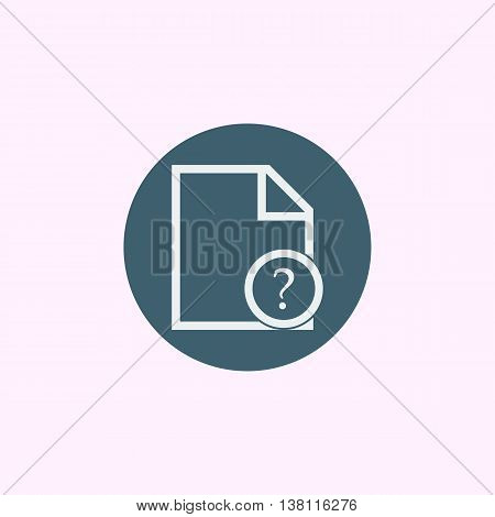 File Help Icon In Vector Format. Premium Quality File Help Symbol. Web Graphic File Help Sign On Blu