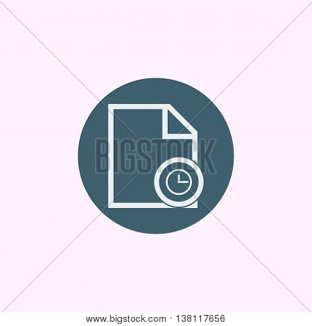 File Time Icon In Vector Format. Premium Quality File Time Symbol. Web Graphic File Time Sign On Blu