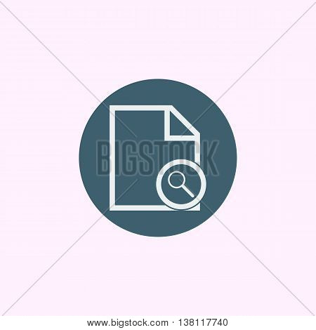 File Zoom Icon In Vector Format. Premium Quality File Zoom Symbol. Web Graphic File Zoom Sign On Blu
