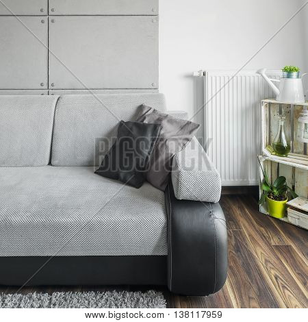 Grey Sofa In Living Room