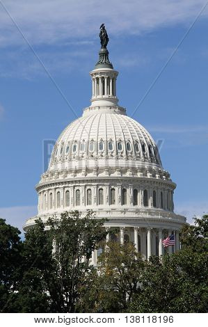 The congress at America as a symbol of usa