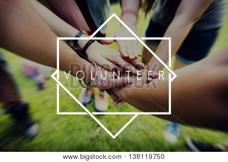 Volunteer Aid Charity Support Volunteering Concept