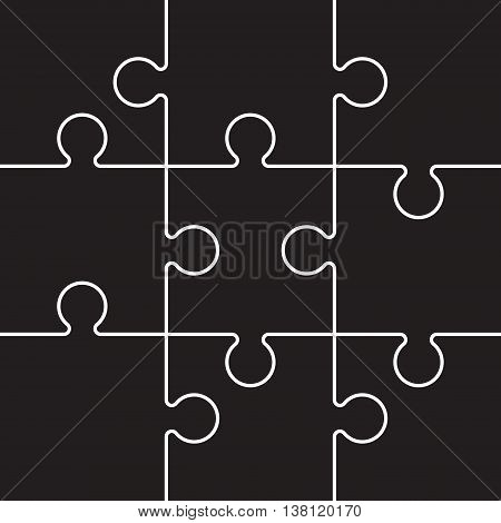 a black and white jigsaw background image